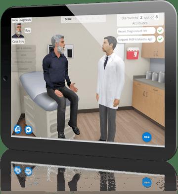 AliveSim Medical Simulation on Tablet
