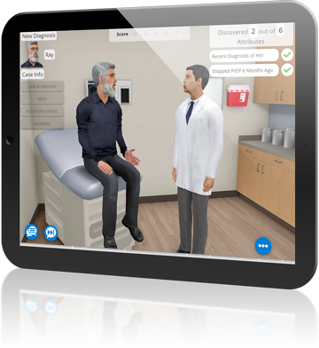AliveSim Medical Simulation on Tablet