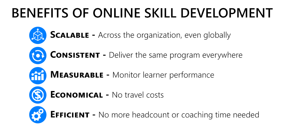 Benefits of online skill development