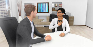 Immersive Digital Training image with Interacting Avatars