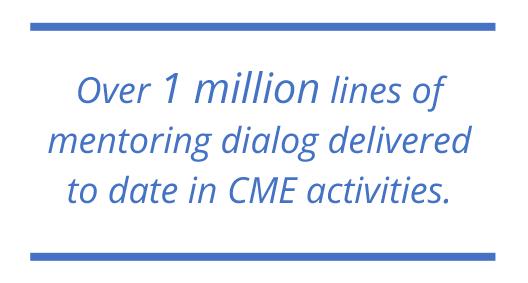 Over 1 million lines of mentoring dialog delivered