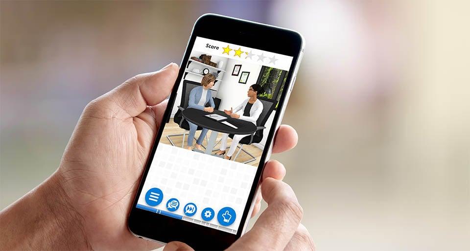 AliveSim platform running on phone