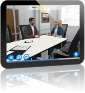 AliveSim in Action on a Tablet illustrating Learn-by-Doing Training