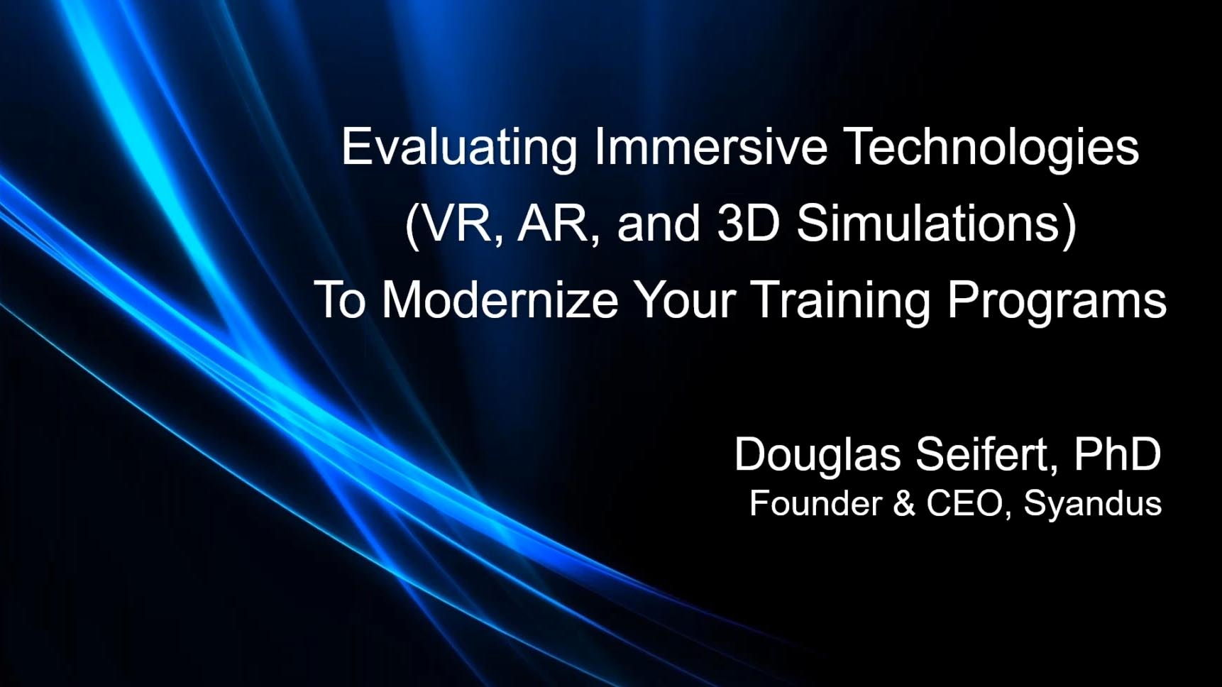Evaluating Immersive Technologies