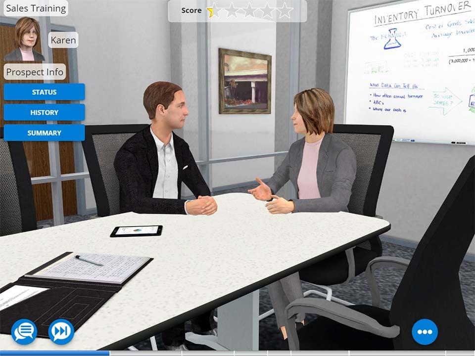 Example of AliveSim  Simulation for Sales Training