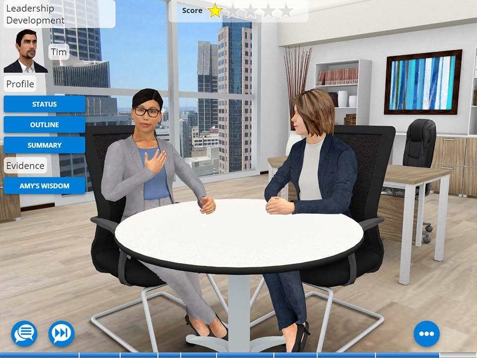 Example of AliveSim Simulation for Talent Development