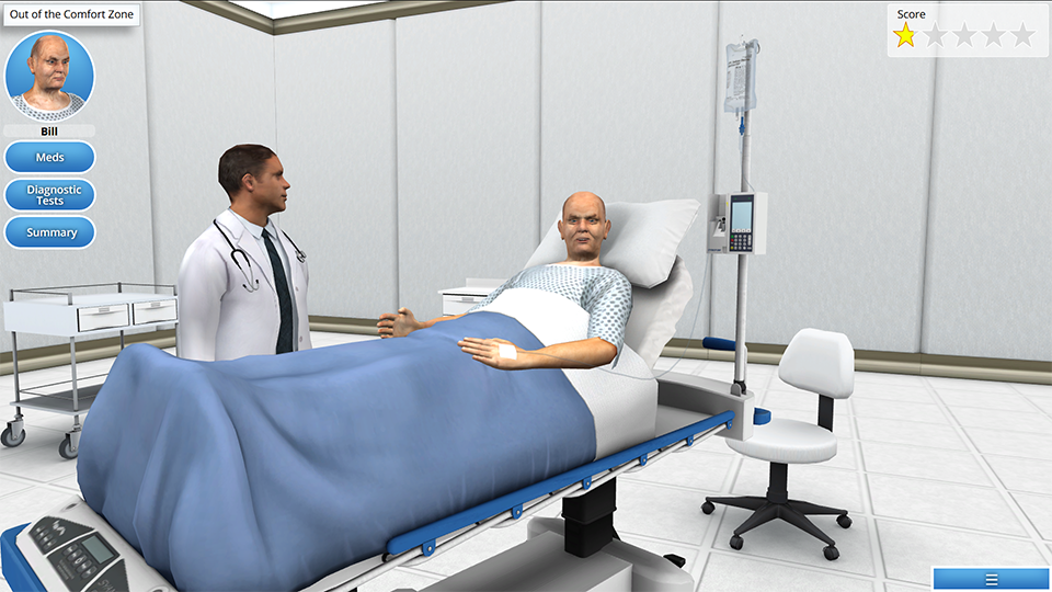 AliveSim screenshot from medical school program
