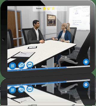 Sales Training on Tablet